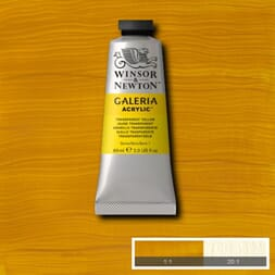WN GALERIA ACRYLIC TRANSPARENT YELLOW 60ML 653