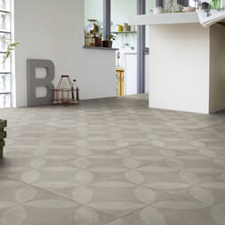TARKETT BELEGG TREND 240 TILE FLOWER LIGHT GREY